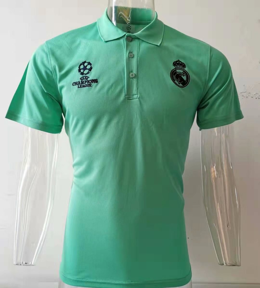 Camiseta Polo Real Madrid Champions 2019-2020 vert