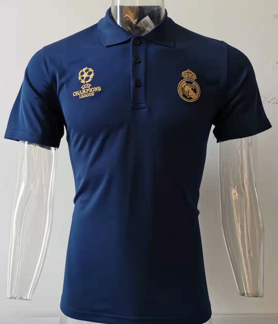 Camiseta Polo Real Madrid champions 2019-2020 bleu