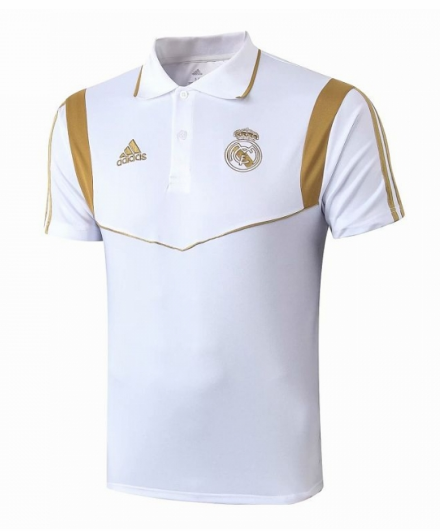 camiseta del Polo 2019-2020 del Real Madrid Blanco