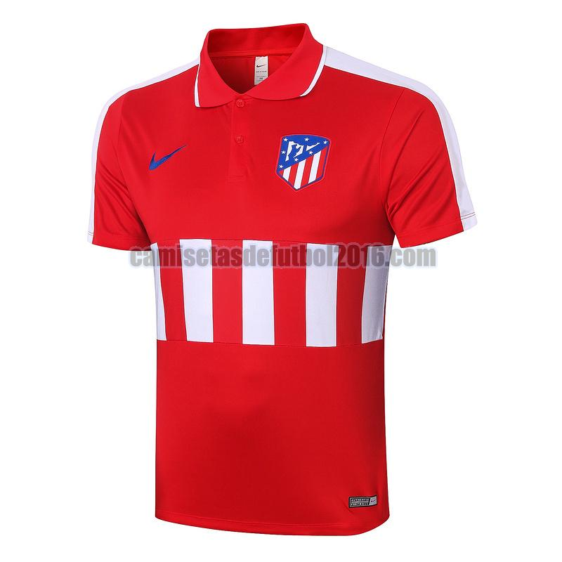 camiseta polo atletico madrid 2020-2021 blanco rojo