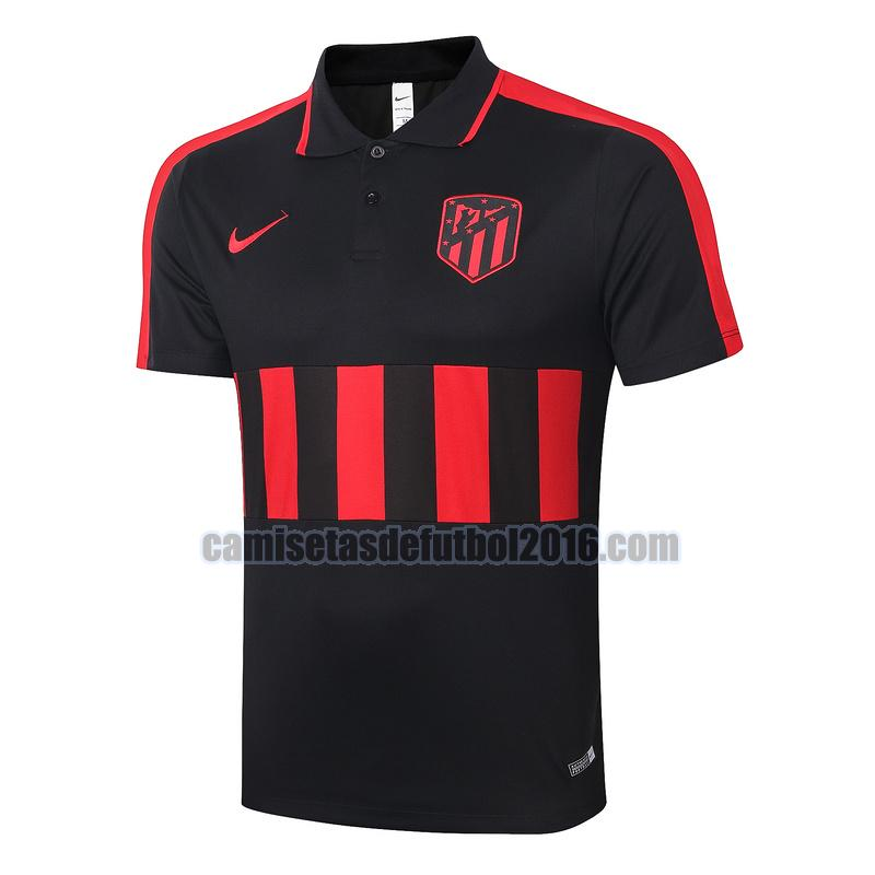 camiseta polo atletico madrid 2020-2021 negro rojo