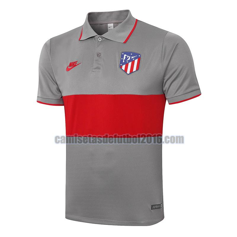 camiseta polo atletico madrid 2020-2021 rojo gris