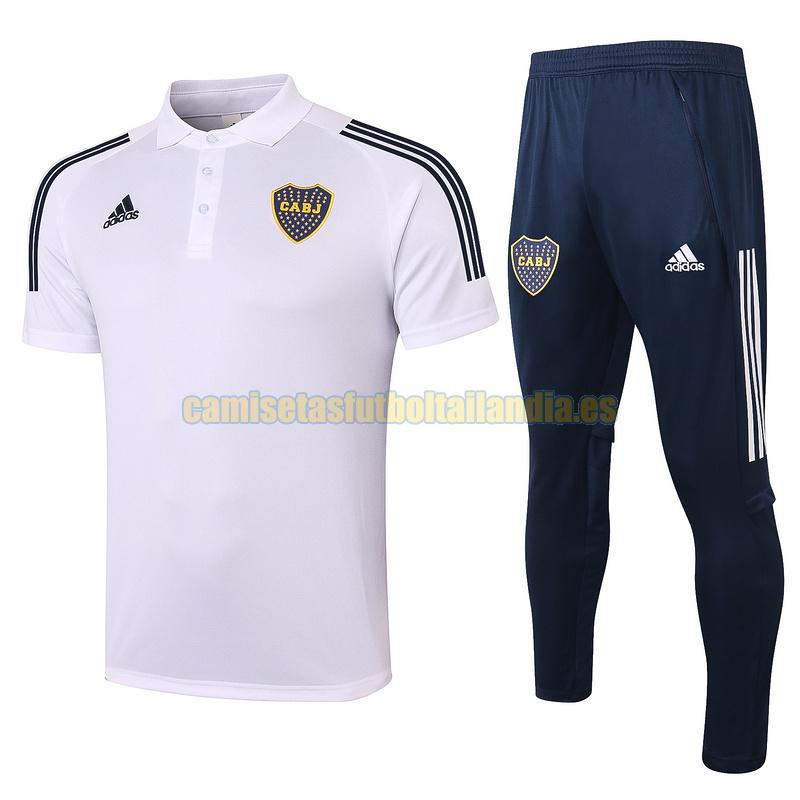 camiseta polo boca juniors 2020-2021 blanco conjunto