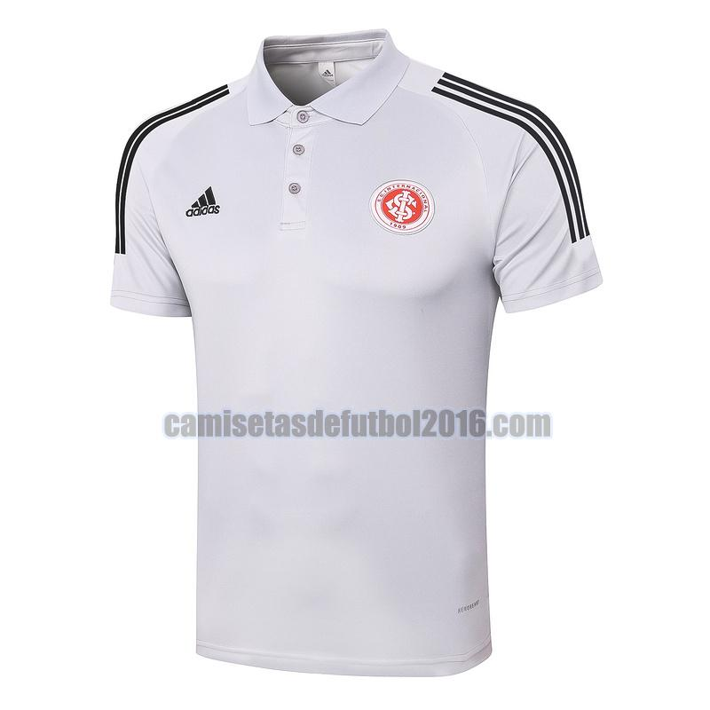 camiseta polo sport club internacional 2020-2021 gris