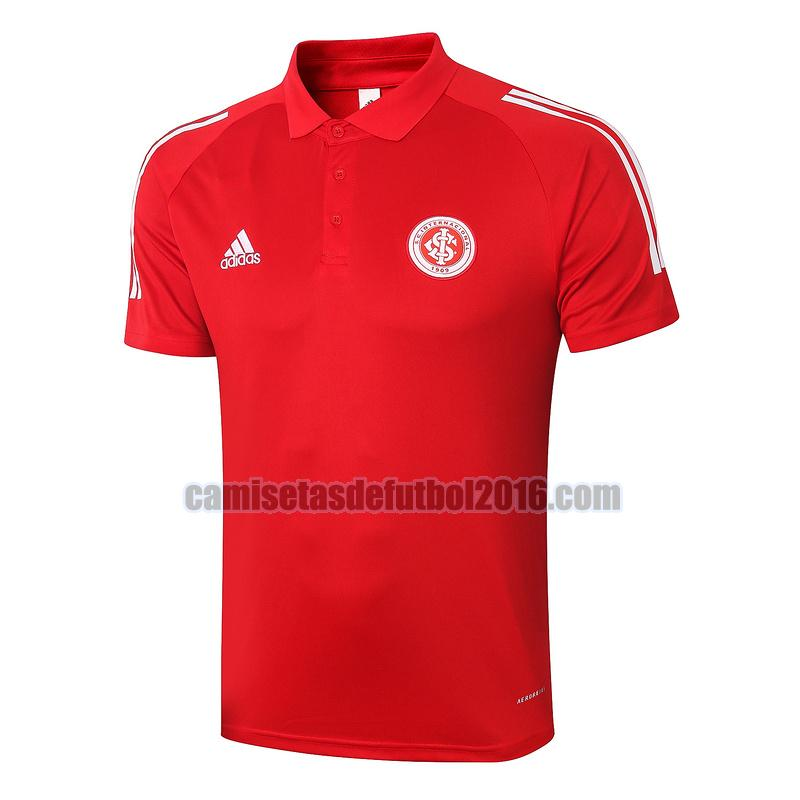 camiseta polo sport club internacional 2020-2021 rojo