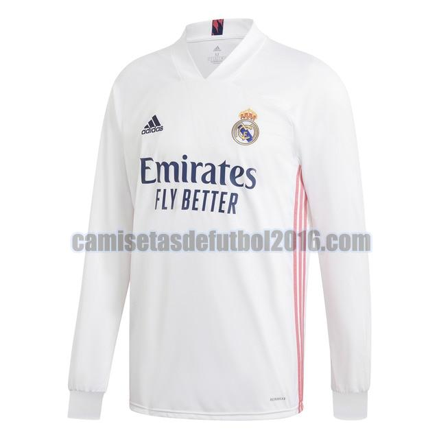 camiseta priemra real madrid 2020-2021 manga larga