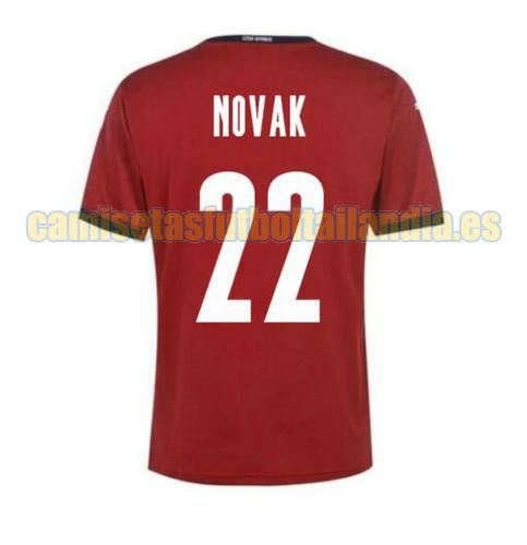 camiseta prima czech republic 2020-2021 novak 22
