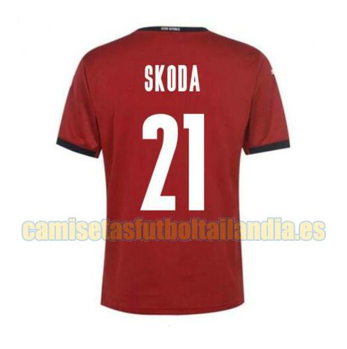 camiseta prima czech republic 2020-2021 skoda 21