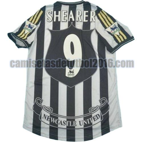 camiseta primera equipacion newcastle united 1997-1999 shearer 9