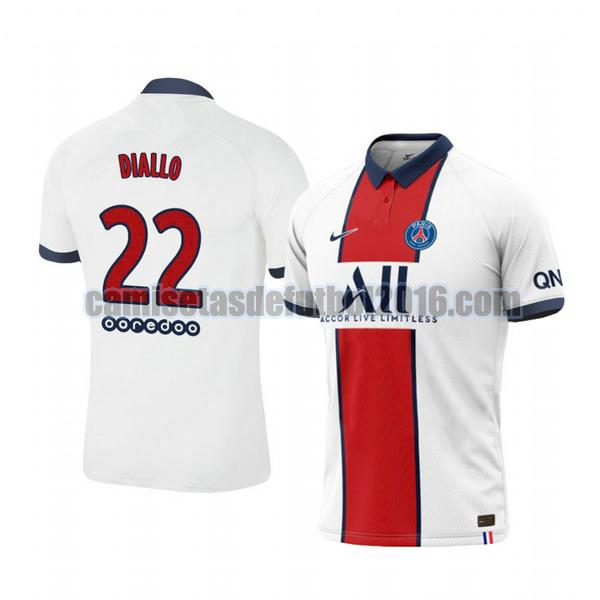camiseta segunda paris saint germain 2020-2021 abdou diallo 22