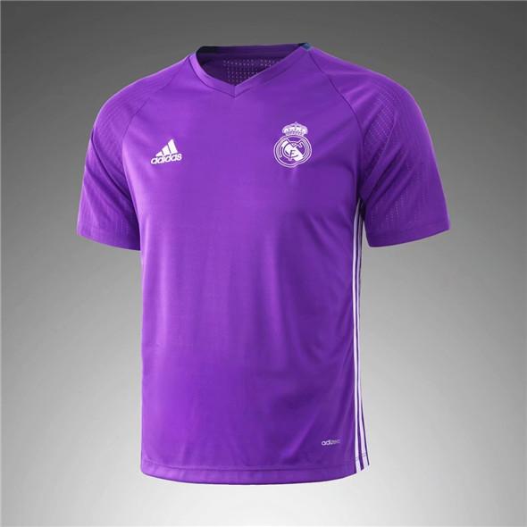 ... camisetas real madrid 2017-2018 entrenamiento púrpura ... 99362c58789cf