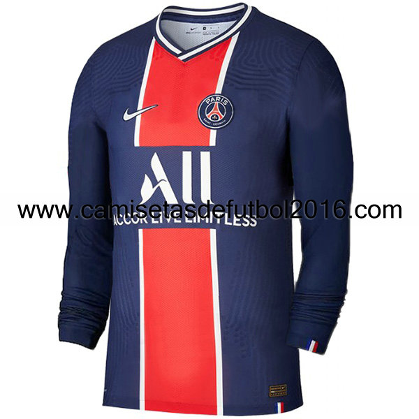 camiseta primera paris saint germain 2020-2021 manga larga