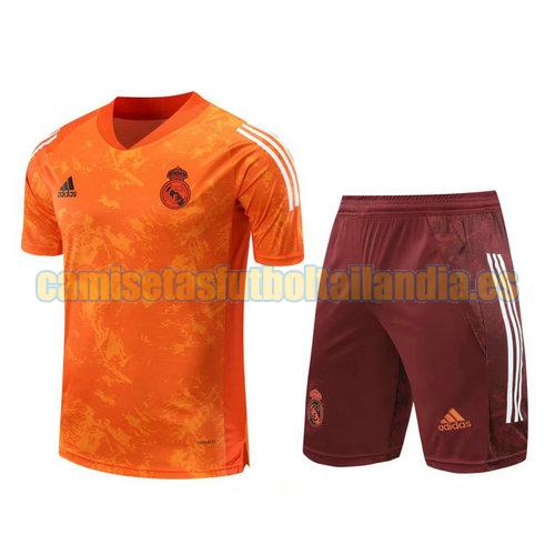 chandal de manga corta real madrid 2021 naranja