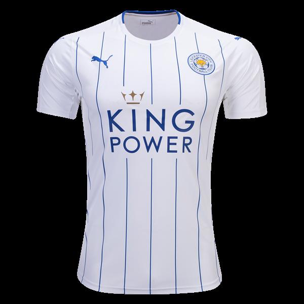 5223644561216 La camiseta Leicester City 2016-2017 tercera cuenta con pinstripes azul en  la parte delantera